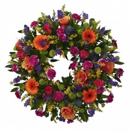 Vibrant loose wreath SYM - 317